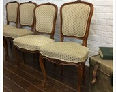Set Of 6 Vintage Louis Xv Style Dining Chairs