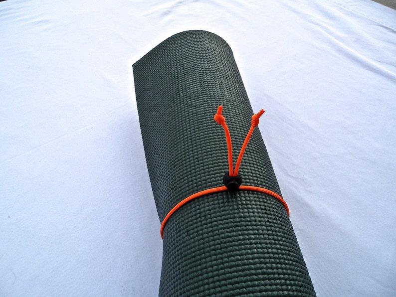 Yoga Mat Strap Tie Orange Paracord image 1