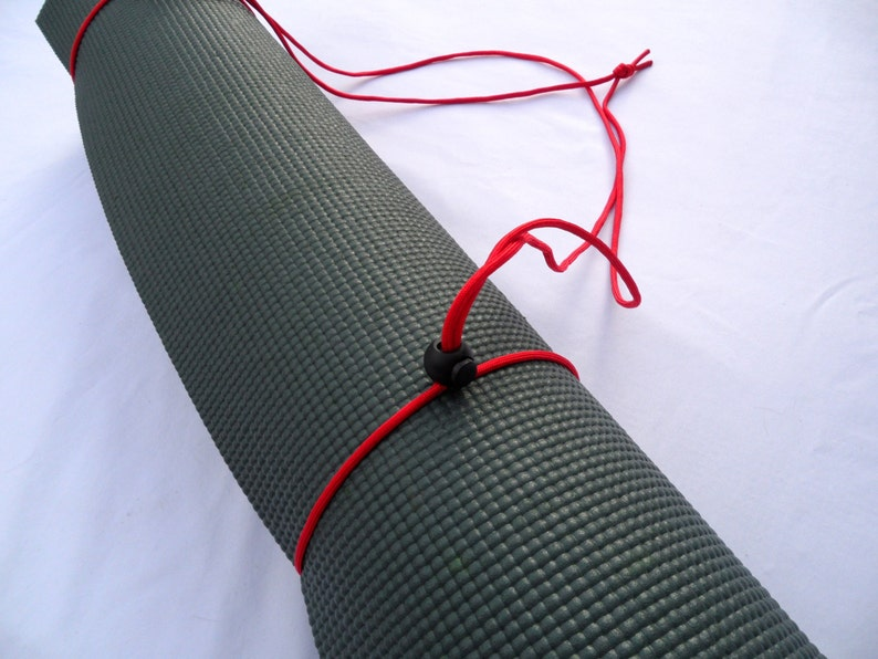 Yoga Mat Carrier Red Paracord image 0