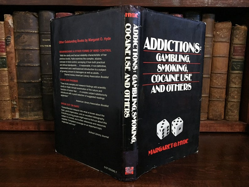 Hollow Book Safe Dice Kit Addictions Gambling Smoking Cocaine Use and  Others Margaret O Hyde
