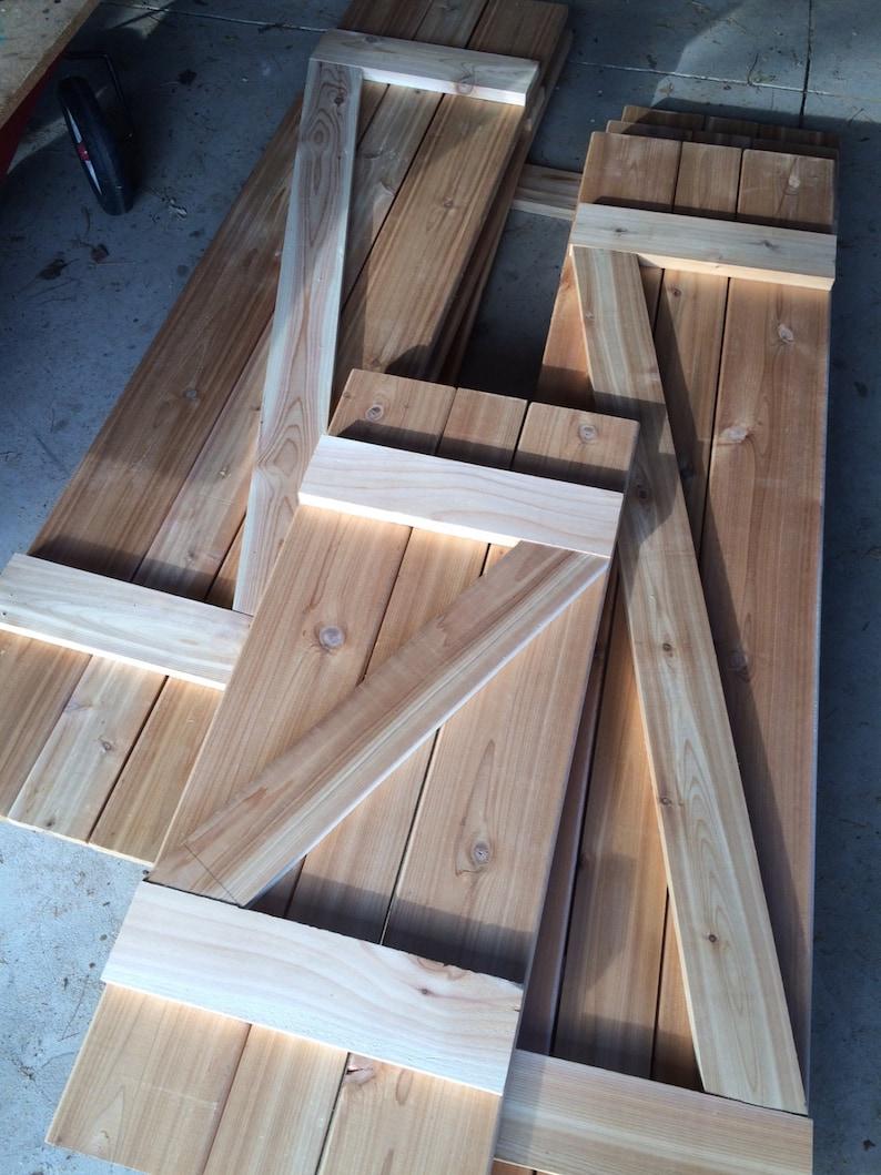 AVAILABLE: Z-Shaped Shutter/ Board and Batten / Cedar / Barn Door /  Farmhouse / Rustic / exterior shutters / wood shutters / curb appeal /