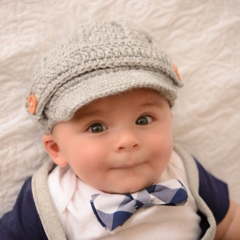 2307d03fd23 Grey Newborn baby hat Crochet newsboy hat and 74 colors to