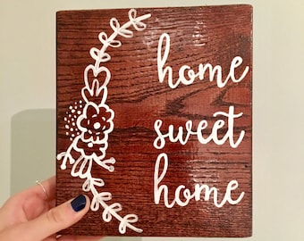 Home sweet home- reclaimed wood sign, reclaimed wood wall art, home decor, reclaimed wood, wood sign