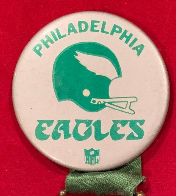 new arrival fd3a8 a5a08 Vintage Circa 1980 Philadelphia Eagles pin pinback with dangling football  decoration - Antique NFL Football Memorabilia