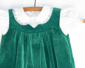 Baby Dress, 1960s Dress, Two Piece Dress, Baby Girl, 12 Months