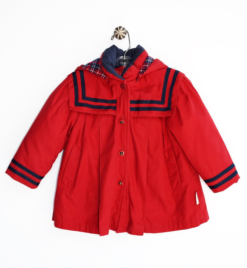 77db6c2e034a Baby Girl Coat Red 1960 s Sixties Jacket London Fog