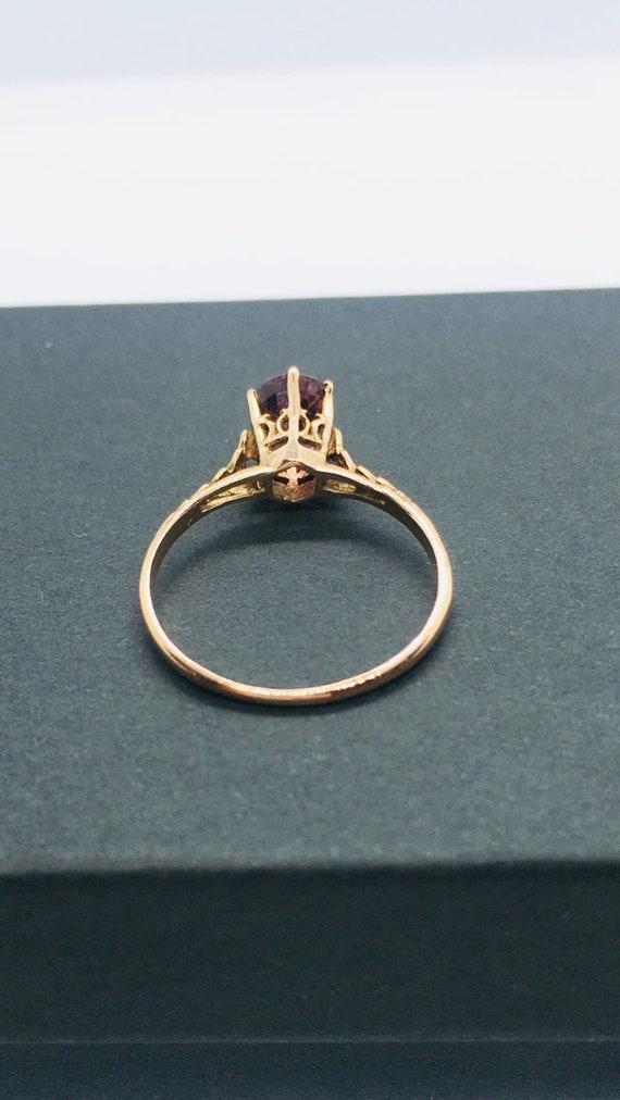 Edwardian Antique Ring, 14k Spinel Ring, Solitair… - image 7