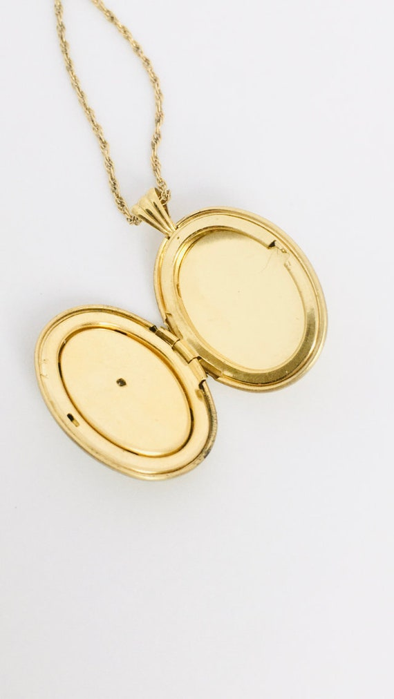 Vintage Gold Fill Locket Pendant / Vintage Mother… - image 5
