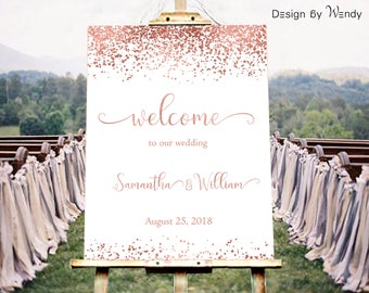 Formal Welcome Banners Pink Purple Banners