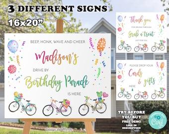 Bicycle Baby Shower Decorations Baby Shower Banner Bingo Raffle Games Printable Digital PDF Package Instant Download in Aqua Navy Orange