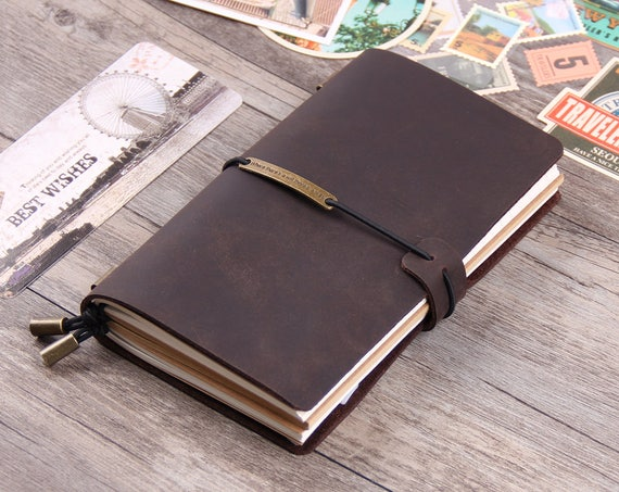 22ec8a3feeac Leather Journal Notebooks - Refillable Journal Sketchbook - Writing Diary  Cover - Vintage Distressed Leather Notebooks -Valentine's Day Gift