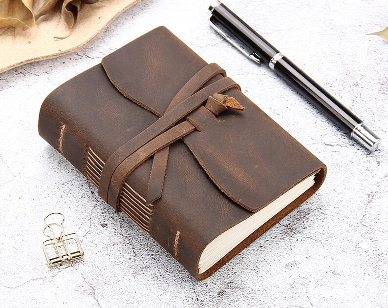 Leather Journal Travel Notebook Handmade Vintage Leather image 0