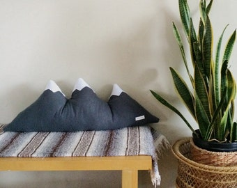 Three Sisters Mountain Pillow - Made to Order