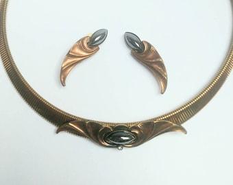 e9e0a5caf3a6 Stunning demi parure Ermani Bulatti Art Nouveau necklace and earrings