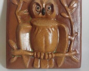 Piastrella ceramica gufo etsy