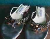 Vintage rhinestone Jimmy Choo slippers