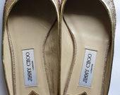 Vintage Jimmy Choo golden slippers