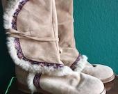 Vintage Jimmy Choo rabbit fur boots