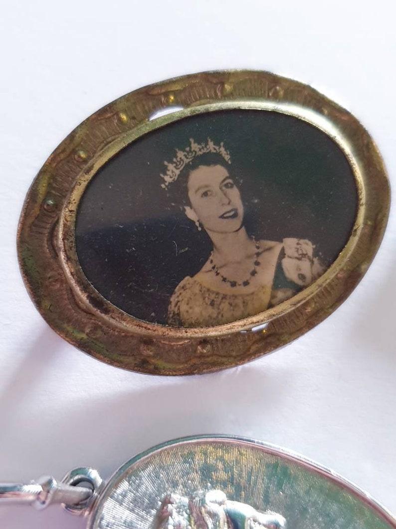 Vintage Queen Elizabeth brooch lot