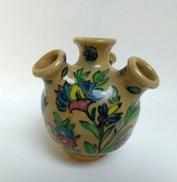 Antique Persian Qajar Tulip Vase Etsy