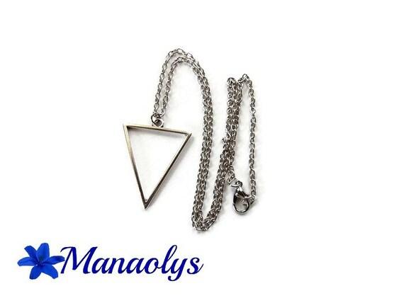 Triangle, silver, minimalist necklace