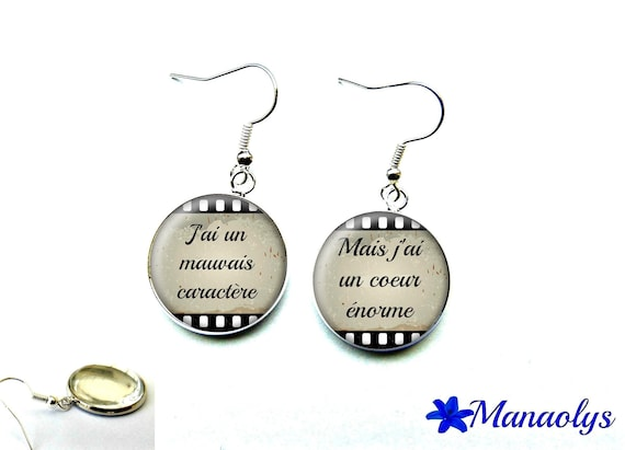 Quote 2194 glass cabochons earrings