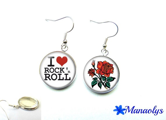 These earrings rock 'n' roll 2777 glass cabochons