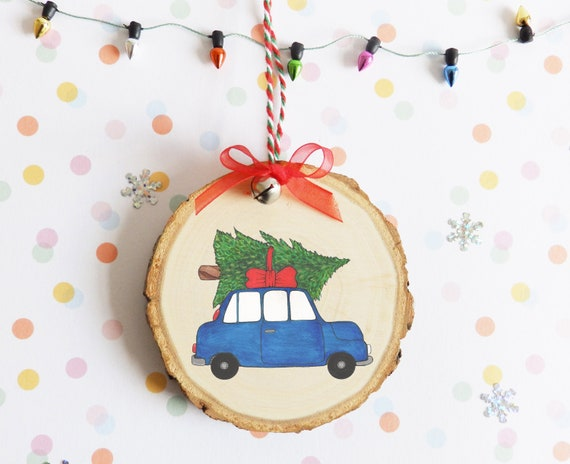 Driving Home For Christmas.Driving Home For Christmas Christmas Tree Decoration Car Tree On Car Christmas Tree Ornament Xmas Gift Wood Tree Ornament