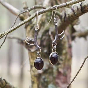 Gothic Jewelry Statement Earrings Occult Jewelry Handmade Earrings Long Drop Earrings Gothic Earrings Bronze Earrings Witch Jewelry
