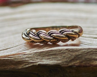 Namejs Ring, Latvian Ring, Braided Ring, Bronze Ring Women, Women's Gold Ring, Bronze Jewelry, Ethnic Jewelry Sterling Silver Ring for Women