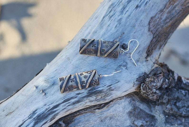 Latvisn Jewelry Bronze Runes Earrings Latvian Ancient Runes Jewelry Set Runes Ring Pagan Jewelry Unique Gift Protection Jewelry