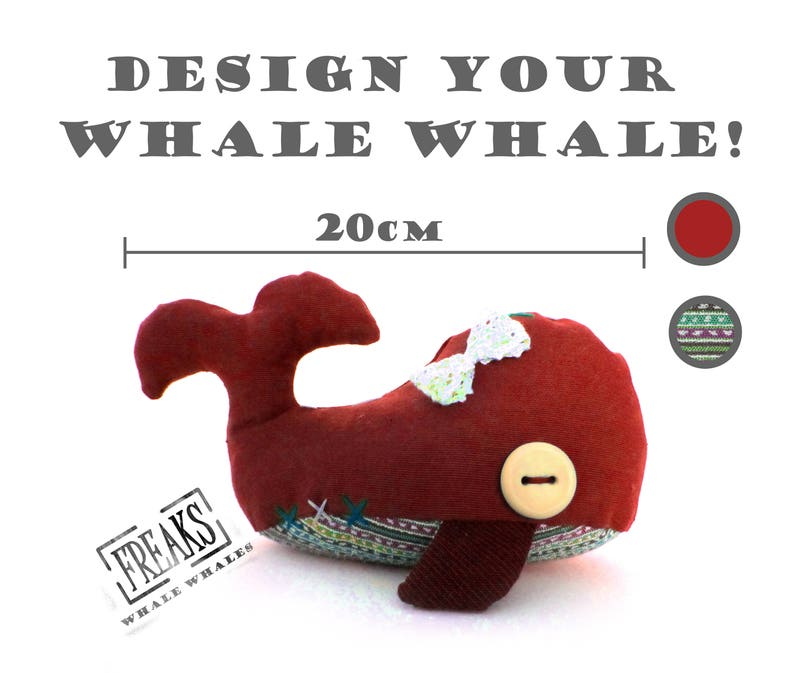 Whale plush small 20cm custom design your own personalised key chain plush  soft toy car accessories  stuffed whales