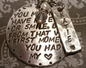 ADOPTION/Step daughter keychain-with name-Adopted