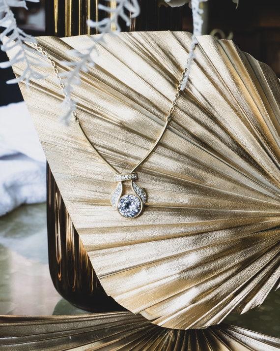 MONET-scratched necklace
