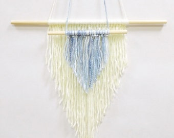 Yarn wall hanging, woven wall weaving, macrame hanging, wall weaving, hanging wall decor, weaving wall hanging, yarn art