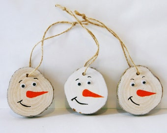 rustic christmas tree ornaments christmas diy wooden christmas tree decorations handmade log slice christmas primitive wooden snowman