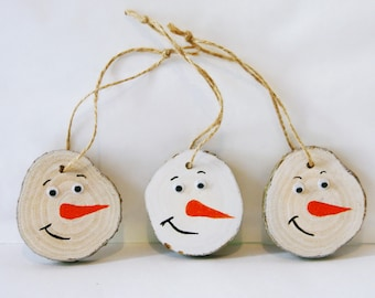rustic christmas tree ornaments christmas diy wooden christmas tree decorations handmade log slice christmas primitive wooden snowman - Wooden Christmas Tree Decorations