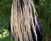Human Hair Dreadlocks Bright Light Blonde / Dread Extensions / Extensions / Light Blonde