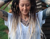 Ombré Human Hair Dreadlocks - Black to Light Blonde / Dread Extensions / Extensions