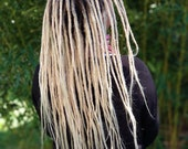 Human Hair Dreadlocks White Blonde / Dread Extensions / Extensions