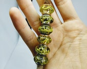 Dread beads m. lichen / natural beads / dread beads dreadlock beads / beard beads / dreadlock beads