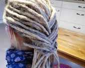 Real hair dreadlocks naturaschblond/Dread extensions/extensions