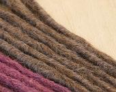 Human Hair Dreadlocks in Chocolate Brown / Dread Extensions / Extensions