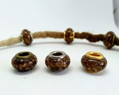 Dreadbeads m. beech leaves/natural pearls/dreadbeads dreadlock beads/beard beads/dreadlock beads