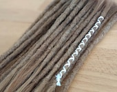 European Human Hair Dreadlocks Medium Blonde / Dread Extensions / Extensions