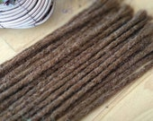 Human Hair Dreadlocks in Chocolate Brown / Dread Extensions / Extensions