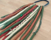 """Dreadfall """"Forest Shades""""/including jewelry set and hairband/wool reads/Double Ended Dreads/"""