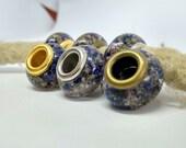 Dread beads m. Tamariske and Forget-menicht / Natural pearls / Dread beads dreadlock beads / Beard beads / Dreadlock beads