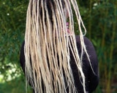 Human hair dreadlocks white blonde / platinum blonde / dread extensions / extensions