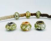 Dreadbeads m. looped flower/natural pearls/dreadbeads dreadlock beads/beard beads/dreadlock beads